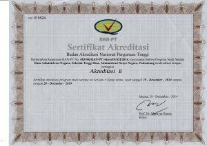 Sertifikat Akreditasi Program Studi